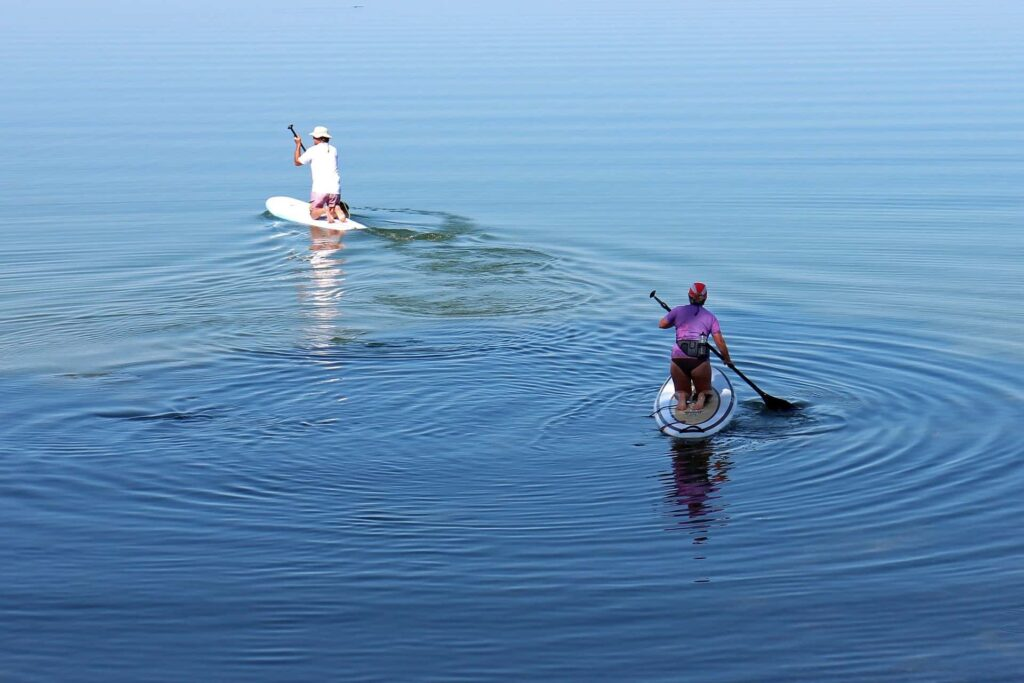 Stand Up Paddling am Chiemsee