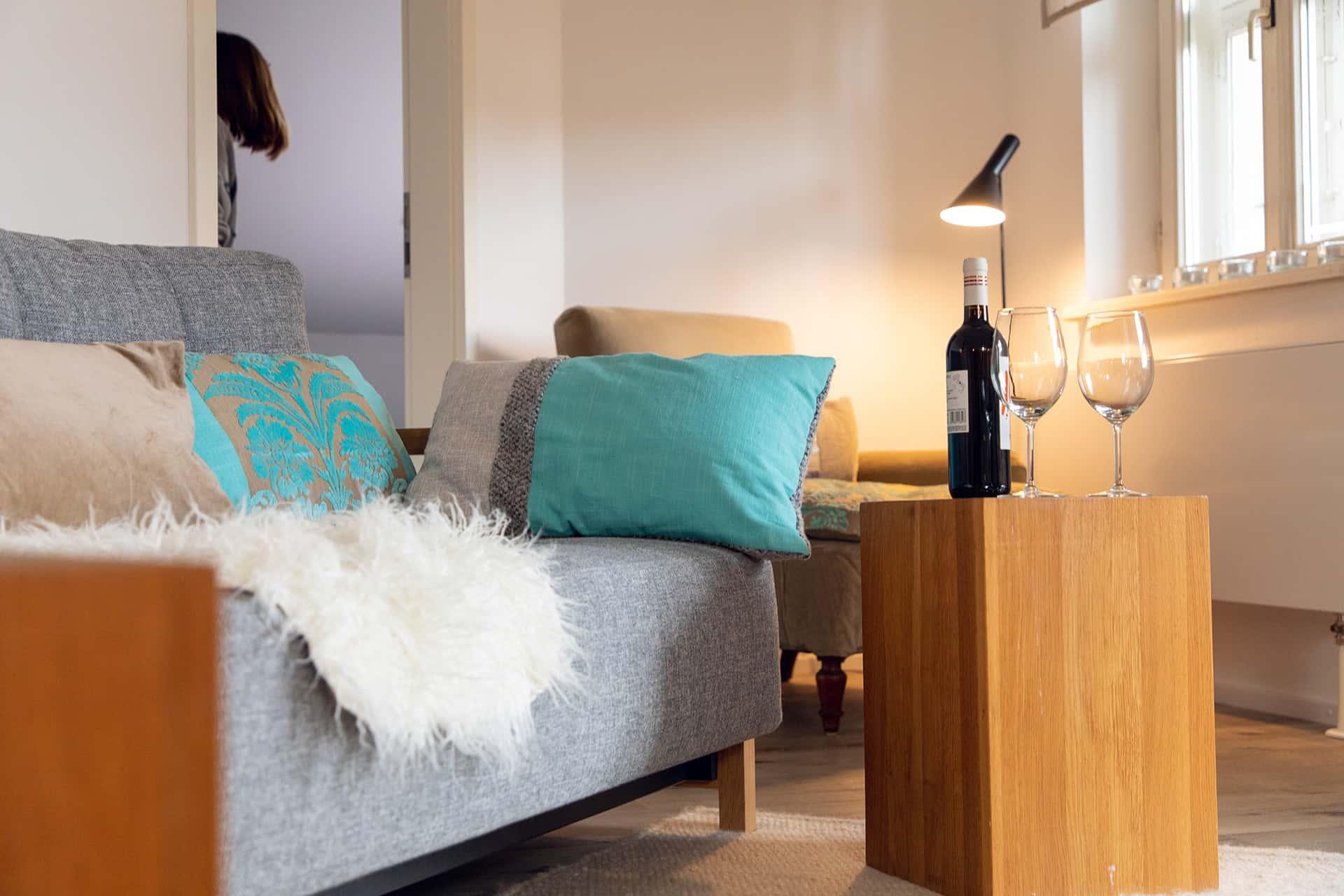 Ferienwohnung Das Lissi, Wohnzimmer, Schlafsofa